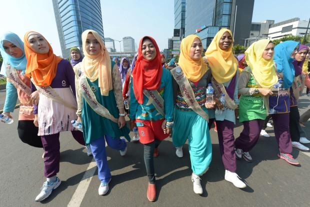 INDONESIA-LIFESTYLE-RELIGION-MISS-WORLD-ISLAM