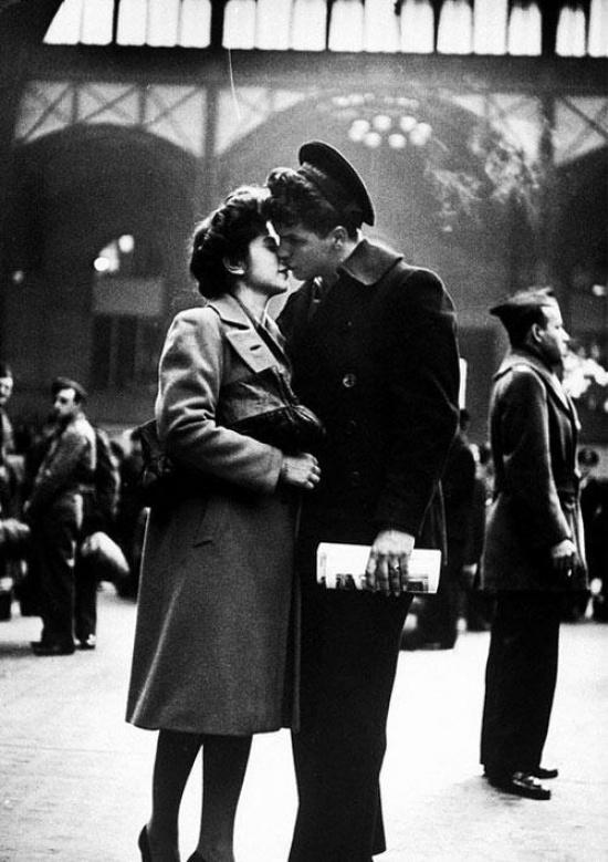 ამერიკელ ჯარისკაცთან გამომშვიდობება 1944 წელი
