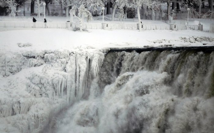 The U.S. side of the Niagara Falls is pictured in Ontario