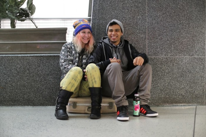"""""""We met online six months ago. But we just met in person a few days ago. She came into the city for my birthday, and she's about to get on the train back home."""""""